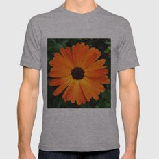 SMILE - DAISY FLOWER #3 #Orange #Raindrops Mens Fitted Tee Athletic Grey SMALL