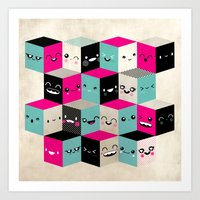 The Many Faces Of Cute Art Print
