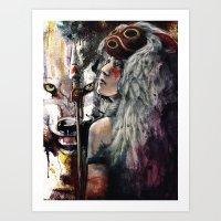 Mononoke San And The Spi… Art Print