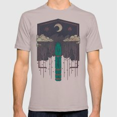 The Lost Obelisk Mens Fitted Tee Cinder SMALL
