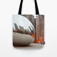 Chicago Bean - Big City Lights Tote Bag