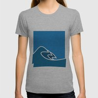 Surf Womens Fitted Tee Athletic Grey SMALL