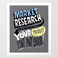 Market Research Art Print