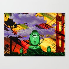 Buddha in color Canvas Print