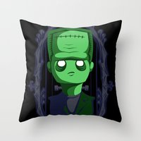 Hey Frankie! Throw Pillow