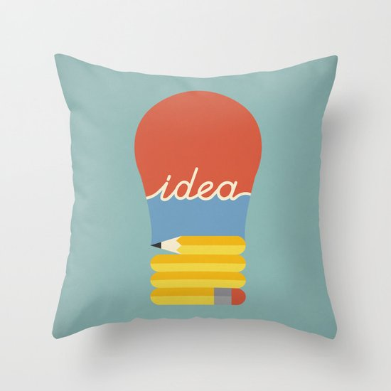 I've Got An Idea Throw Pillow