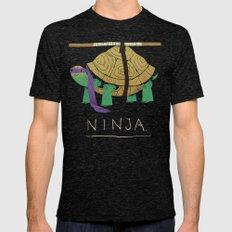 ninja - purple Mens Fitted Tee Tri-Black SMALL