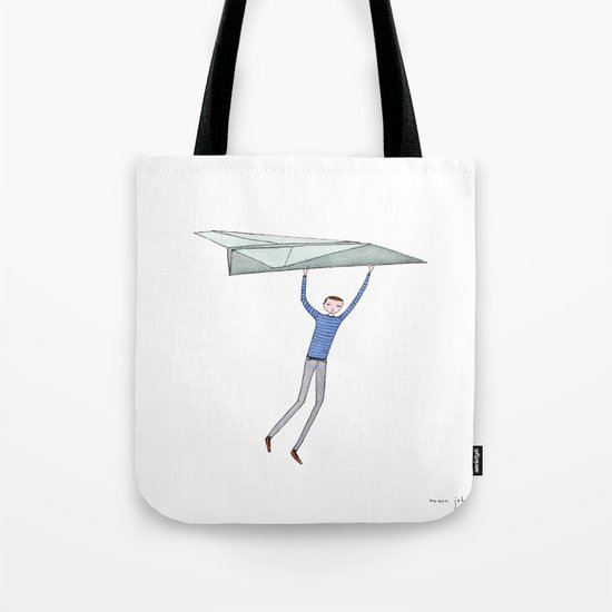 hang on to your paper airplane Tote Bag