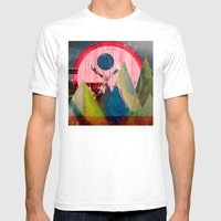 Wonder Wood Dream Mounta… Mens Fitted Tee White SMALL