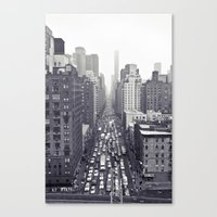 Flying Over First... Canvas Print