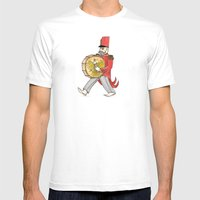 López, Bass Drum Mens Fitted Tee White SMALL