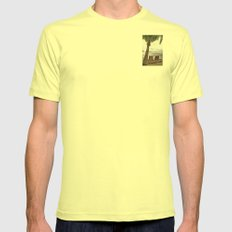 When the Time Stood Still Mens Fitted Tee Lemon SMALL