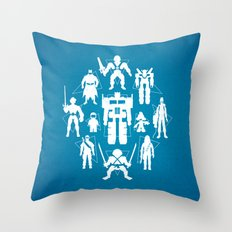 Plastic Heroes Throw Pillow