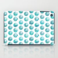 Sketchy Dots - Teal iPad Case