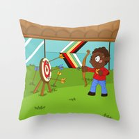 Olympic Sports: Archery Throw Pillow