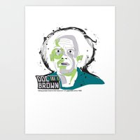 Doc Brown_INK - Back to the Future Art Print