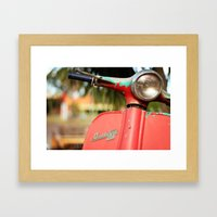 The Old Scooter - Bambi Framed Art Print