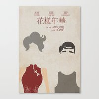 In the Mood for Love - Minimal Poster Canvas Print