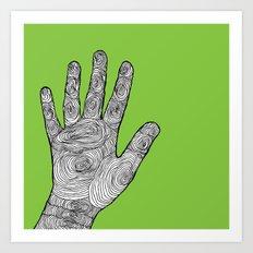 Handprint Art Print