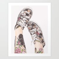 shoes Art Prints featuring Shoes by Carlos ARL