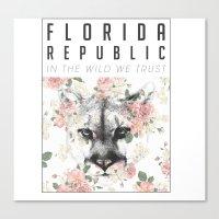Florida Republic Floral Canvas Print
