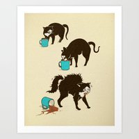 Art Print featuring Coffee Cat by Boots