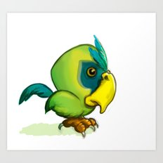 Green Parrot Art Print