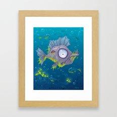 Zombie Fish Framed Art Print