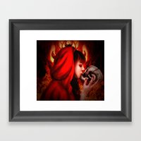 Hell's Kiss Framed Art Print