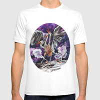 Three-headed Evil Bird G… Mens Fitted Tee White SMALL