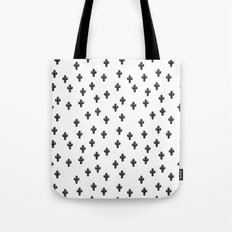 Catctus Black On White Tote Bag