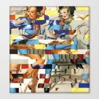 Glitch Pin-Up Redux: Yasmin & Yardley Canvas Print