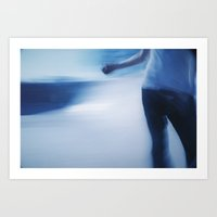 Skater in Slow Motion Art Print