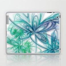 Floral Blue Laptop & iPad Skin