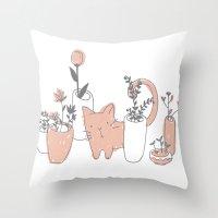 Fatty Cat Throw Pillow