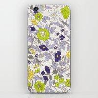 Floral Garden - Blues An… iPhone & iPod Skin