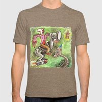 The Rocketleg and the Shaman Mens Fitted Tee Tri-Coffee SMALL