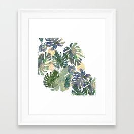 Framed Art Print - Tropical Leaves - franciscomffonseca