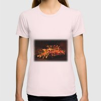 Candy Cane Lane Chevy Tr… Womens Fitted Tee Light Pink SMALL