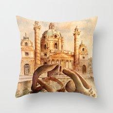 Karlskirche, Vienna, Austria Throw Pillow
