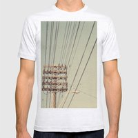 wire Mens Fitted Tee Ash Grey SMALL