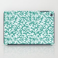 turquoise coral pattern iPad Case