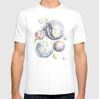 Bubbles Mens Fitted Tee White SMALL