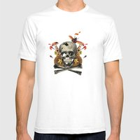Hard Skull Mens Fitted Tee White SMALL