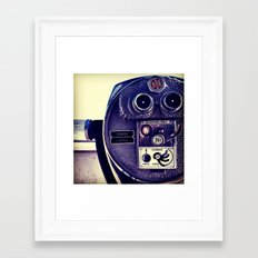 Binoculars Framed Art Print