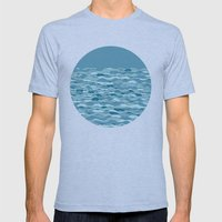 Waves Mens Fitted Tee Athletic Blue SMALL