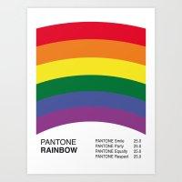 Pantone RAINBOW Art Print