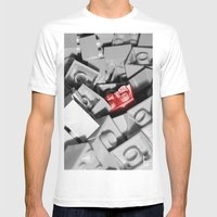 Red Brick Mens Fitted Tee White SMALL