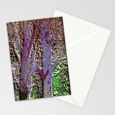 Purple tree Stationery Cards