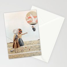 trip to the moon, collage Stationery Cards